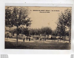 SOUCIEU EN JARRET - Jeu De Boules - Place De La Flette - Très Bon état - France