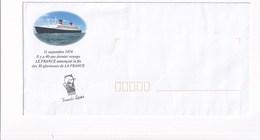 Enveloppe Du Paquebot FRANCE FRENCH LINES - Bateaux
