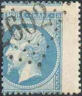 N°22 - 20 Centimes NAPOLEON Non Lauré, Obl. GC 2602 NANTES Bien Nette Et énorme Décalage Vers La Droite De La Dentelure. - 1862 Napoleon III