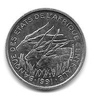Etats De L'Afrique Centrale. 50 Francs 1991 Lettre A (Tchad) - (1139) - Tsjaad