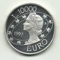 1997 - San Marino 10.000 Lire Argento - Euro - San Marino