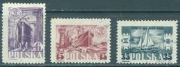 POLAND - USED/OBLIT. - 1948 - MARINE DAY - Yv 518-520 Mi 490-492 - Lot 21189 - 1944-.... Republic
