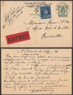 BELGIQUE EP 35cVERT + COB 320 EN EXPRES DE ST TRUIDEN 23/04/1936 VERS BRUXELLES (DD) DC-6390 - 1931-1934 Mütze (Képi)