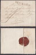 BELGIQUE LETTRE DE BEVEREN 30/06/1826 43.5X5mm VERS GEND (DD) DC-6402 - 1815-1830 (Dutch Period)