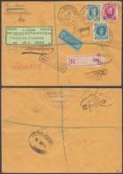 BELGIQUE COB 194+208+247 SUR LETTRE RECO PAR AVION DE OSTENDE 15/05/1928 VERS LONDRES (DD) DC-6414 - 1922-1927 Houyoux