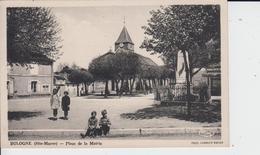 HAUTE MARNE -  BOLOGNE - Place De La Mairie  ( - Timbre à Date De 1946 - Belle Animation ) - France