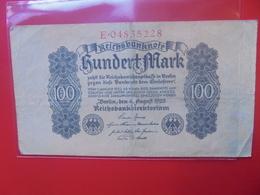 Reichsbanknote 100 MARK 1922 CIRCULER (B.5) - [ 3] 1918-1933 : República De Weimar