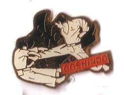 C129 Pin's Judo Karaté Goshindo Evolution Vernier, Suisse Achat Immédiat - Judo
