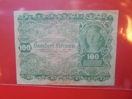 AUTRICHE 100 KRONEN 1922 CIRCULER (B.5) - Oesterreich