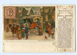 T7571/ Das Postwesen  Thurn U. Taxis`sche Post  Postkutsche Litho AK 1905 - Correos & Carteros