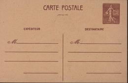 Entier CP Semeuse Lignée 1,2 Brun Libération De L'Ouest Storch E1 Poinçon Local Imprimerie Oberthur Rennes Guerre 40 - Postales Tipos Y (antes De 1995)