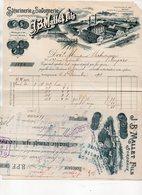 Bordeaux (33 Gironde ) Facture Illustrée  JB MALLE ET FILS Stéarnerie Et Savonnerie   1913 Avec Sa Traite  (PPP21473) - France