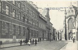 AALST - ALOST - Rue De Bruxelles Et Collège Des PP Jésuites Au Fond L'église Saint Martin - Aalst