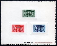 Epreuve Collective YT N° 850 à 852 - Cote: 1600 € - UPU - Luxeproeven