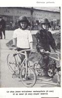 CYCLISME Sur Piste - VELO - Le Plus Jeune Entraineur Moto - STAYER Et Sa Soeur - Non Voagé (269) - Cyclisme