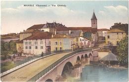 Dépt 16 - MANSLE - Vue Générale - (Coll. Combaud) - CIM Colorisée - HÔTEL DU COMMERCE - Mansle