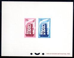 Epreuve Collective YT N° 1076 - 1077 - Cote: 1100 € - Europa 1956 - Luxeproeven