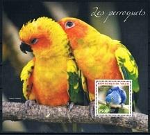 Bloc Sheet Oiseaux Perroquets Birds Parrots Neuf MNH ** Niger 2014 - Parrots