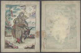 Image Pieuse (Velin) + Relief En Couleur, Peinte à La Main / Dim : 10,4 X 13,2cm. TB Et R - Geburt & Taufe