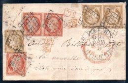 ** RARE ** - Lettre De 1851 à Destination Des USA Affranchie à 1f 50 - Lire Descriptif - 1849-1850 Cérès