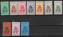 ⭐ Martinique - Taxe - YT N° 12 à 22 **  Sans Le 14 - Neuf Sans Charnière - 1933 ⭐ - Timbres-taxe