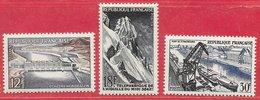 France N°1078 à 1080 Réalisations Techniques 1956 ** - Francia
