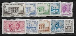 ⭐ Martinique - YT N° 175 à 185 ** Sans Le 180 - Neuf Sans Charnière - 1939 / 1940 ⭐ - Unused Stamps