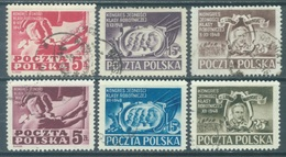 POLAND - USED/OBLIT. - 1948 -  Yv 538-543 Mi 505-510 - Lot 21190 - 1944-.... Republic