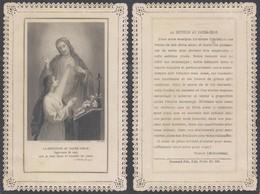Image Pieuse En Dentelle : La Dévotion Au Sacré-coeur (Edit. Pontificaux Paris PI. 893). TB état ! - Communion