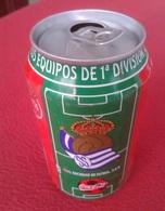 SPAIN ANTIGUA LATA DE COCACOLA COCA COLA REAL SOCIEDAD SAN SEBASTIÁN EQUIPOS FÚTBOL LIGA 96 97 1996 1997 FOOTBALL SOCCER - Latas
