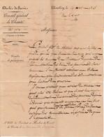 1828 CHAMBERY - Conseil Gal De CHARITÉ à La Commune De FAVERGES (de La Tour) (38) Duché De SAVOIE - Documents Historiques