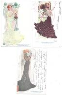 CPA SERIE 6 LUDVIC ART NOUVEAU FEMME ROBE CHAUSSURES RAOUL IMP. LEMERCIER - Illustrateurs & Photographes