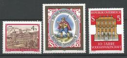 TP D'AUTRICHE N° 1620 + 1699 + 1720 NEUFS SANS CHARNIERE - 1945-.... 2ème République
