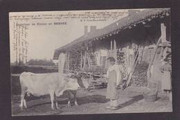 CPA Ferme Fermes à La Campagne Métier écrite En Bresse Vaches - Fattorie