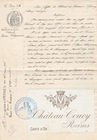 BRUXELLES MAISON HELLEMANS Marque Chateau Coucy - 1800 – 1899