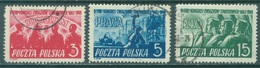 POLAND - USED/OBLIT. - 1949 -  Yv 548-550 Mi 527-529 - Lot 21192 - 1944-.... Republic