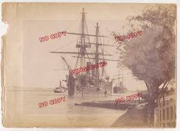 Au Plus Rapide Canal De Suez Egypte Croisement Cuirassé Russe Au Kilomètre 152 Beau Format - Barcos