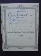 ALGERIE - CIE DES MINES DU KEF-OUM-THEBOUL, Pres LA CALLE, ALGERIE - ACTION DE 500 FRS - MARSEILLE 1891 - PEU COURANT - Hist. Wertpapiere - Nonvaleurs