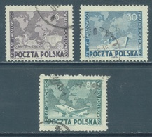 POLAND - USED/OBLIT. - 1949 -  UPU - Yv 554-556 Mi 533-535 - Lot 21193 - 1944-.... Republic