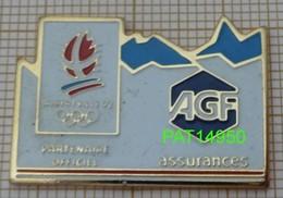 JO ALBERTVILLE 92   AGF ASSURANCES En Version EàF COJO 1991 Base Dorée - Juegos Olímpicos