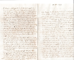 1840 - Lettre à Mme La Comtesse Henriette De SADE Au Château De MAUVAGES (Meuse) - Historical Documents