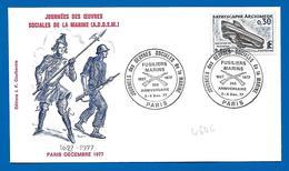 PARIS Décembre 1977 - Journées Des Oeuvres Sociales De La Marine (4646) - Marcofilie (Brieven)