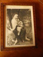 Grande Image Pieuse La Vierge Aux Colombes   E.Azambre N° 3168 Maison Bouasse Lebel Encadrée - Religion & Esotérisme