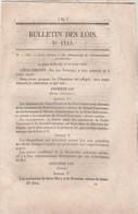 Bulletin Des Lois 1115 De 1844 Chaudières Bateaux à Vapeur - Trains Bois Flottés Paris - Mines Montrambert Loire - Décrets & Lois