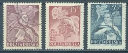 POLAND - USED/OBLIT. - 1949 -  CELEBRITIES - Yv 561-563 Mi 536-538 - Lot 21194 - 1944-.... Republic