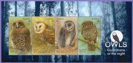 Australia 2016. Fauna. Birds. Owls - Hojas Bloque