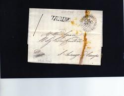 CG7 -. Italia - Lettera Con Timbro Lineare Di Urbino  Del 15/6/1841 Per S. Lorenzo In Campo - Polizia Prov. Di Urbino - 1. ...-1850 Prephilately