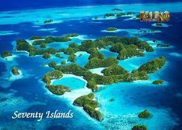 Palau Seventy Islands Aerial View UNESCO New Postcard - Palau