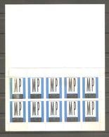 2 Carnets De 10 Vignettes Neuves MUSÉE DE LA POSTE. 1990 Vignettes MP Bleu -1991 Vignettes MP Jaune. - Erinnofilia