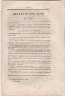 Bulletin Des Lois 1116 De 1844 Castelnau Estretefons Haute Garonne - Pont Durance Valernes Basses Alpes - Lyon - Décrets & Lois